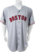 Baseball Collectibles:Uniforms, 2004 Curt Schilling Game Worn Signed Boston Red Sox Jersey. ...