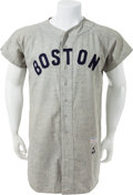 "Basketball Collectibles:Uniforms, 1958 Don ""Bootsie"" Buddin Game Worn Boston Red Sox Flannel. ..."