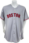 Baseball Collectibles:Uniforms, 2008 Jon Lester Game Worn Boston Red Sox Jersey. ...