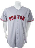 Baseball Collectibles:Uniforms, 2008 Mike Lowell Game Worn Signed Boston Red Sox Jersey. ...