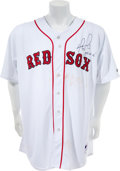 Baseball Collectibles:Uniforms, 2006 David Ortiz Game Worn Signed Boston Red Sox Jersey With Steiner Certificate. ...