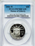 Modern Bullion Coins, 2006-W $50 Half-Ounce Platinum Statue of Liberty PR70 Deep CameoPCGS. PCGS Population (170). NGC Census: (624)....
