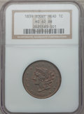 Large Cents, 1839 1C Booby Head MS62 Brown NGC. N-7, High R.2....