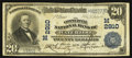 National Bank Notes:Iowa, Waterloo, IA - $20 1902 Plain Back Fr. 650 The Commercial NB Ch. # (M)2910. ...