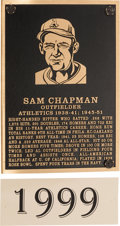 Baseball Collectibles:Others, 1999 Philadelphia Athletics Hall of Fame Plaque: Sam Chapman....