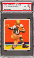 Football Cards:Singles (Pre-1950), 1935 National Chicle Cliff Montgomery #21 PSA NM-MT 8....