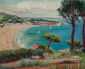 American, GUY PÈNE DU BOIS (American, 1884-1958). Costa Brava, Spain.Oil on canvas. 28 x 34 inches (71.1 x 86.4 cm). Signed lower...