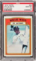 Baseball Cards:Singles (1970-Now), 1972 Topps Willie Mays #50 PSA Gem Mint 10 - Pop Two! ...