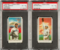 Baseball Cards:Lots, 1909-11 E90-1 American Caramel PSA EX-MT 6 Pair (2) - Both Pop One,None Higher. ...