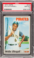 Baseball Cards:Singles (1970-Now), 1970 Topps Willie Stargell #470 PSA Gem Mint 10 - Pop Two! ...