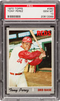 Baseball Cards:Singles (1970-Now), 1970 Topps Tony Perez #380 PSA Gem Mint 10 - Pop One! ...