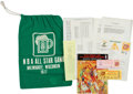 Basketball Collectibles:Others, 1977 NBA All Star Game Laundry Bag, Program & Tickets....