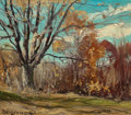 American:Regional, FRANKLIN DE HAVEN (American, 1856-1934). Fall Landscape. Oilon board. 12 x 14 inches (30.5 x 35.6 cm). Signed lower lef...