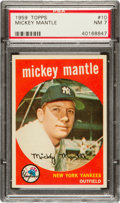 Baseball Cards:Singles (1950-1959), 1959 Topps Mickey Mantle #10 PSA NM 7....