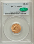 Indian Quarter Eagles, 1912 $2 1/2 MS63 PCGS. CAC. PCGS Population (763/544). NGC Census:(1039/718). Mintage: 616,000. Numismedia Wsl. Price for ...