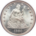 Seated Quarters, 1880 25C MS67 PCGS. CAC....