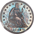 Proof Seated Half Dimes, 1859 H10C PR65 NGC. CAC....