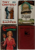 Books:Fiction, Sapper [pseudonym for Herman C. McNeile]. Group of FourNovels/Three First Editions. Hodder & Stoughton, 1916-1937.Publish... (Total: 4 Items)