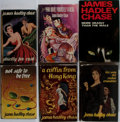 Books:Fiction, James Hadley Chase. Group of Six Novels/Three First Editions.Various publishers, various dates. Publisher's cloth and dust ...(Total: 6 Items)