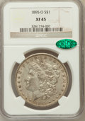 Morgan Dollars, 1895-O $1 XF45 NGC. CAC. NGC Census: (732/2211). PCGS Population(890/1874). Mintage: 450,000. Numismedia Wsl. Price for pr...