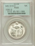 Commemorative Silver: , 1936-D 50C San Diego MS65 PCGS. PCGS Population (4019/847). NGCCensus: (1462/481). Mintage: 30,092. Numismedia Wsl. Price ...