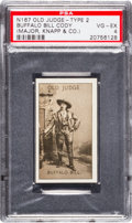 Non-Sport Cards:Singles (Pre-1950), 1886 N167 Old Judge Type 2 Buffalo Bill Cody PSA VG-EX 4 - OnlyGraded Example! ...