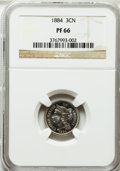 Proof Three Cent Nickels: , 1884 3CN PR66 NGC. NGC Census: (228/32). PCGS Population (182/41).Mintage: 3,942. Numismedia Wsl. Price for problem free N...