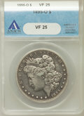 Morgan Dollars: , 1895-O $1 VF25 ANACS. NGC Census: (128/3596). PCGS Population(187/3794). Mintage: 450,000. Numismedia Wsl. Price for probl...