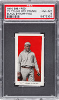 "Baseball Cards:Singles (Pre-1930), 1910 E98 ""Set of 30"" Cy Young, Red PSA NM-MT 8 Black Swamp Find...."