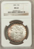 Morgan Dollars: , 1892 $1 MS62 NGC. NGC Census: (614/2014). PCGS Population(834/3376). Mintage: 1,037,245. Numismedia Wsl. Price forproblem...