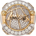 Basketball Collectibles:Others, 2010 Los Angeles Lakers NBA Championship Ring with High-TechOriginal Display Case. ...