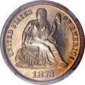 Proof Seated Dimes, 1873 10C Seated Dime No Arrows, Closed 3 PR64 NGC....