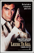 "Movie Posters:James Bond, License to Kill (United Artists, 1989). One Sheet (27"" X 41"")Advance. James Bond.. ..."