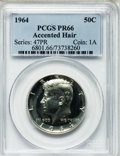 Proof Kennedy Half Dollars: , 1964 50C Accented Hair PR66 PCGS. PCGS Population (871/1331). NGCCensus: (1345/3580). Numismedia Wsl. Price for problem f...