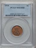 Lincoln Cents: , 1914 1C MS64 Red and Brown PCGS. PCGS Population (234/53). NGCCensus: (89/75). Mintage: 75,238,432. Numismedia Wsl. Price ...