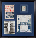 Baseball Collectibles:Tickets, 1961 Roger Maris 61st Home Run Seat Coupon, Program &Photograph Display....