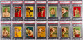 Boxing Cards:General, Extremely Rare 1910 T219 Red Cross Boxing Collection (38). ...