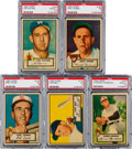 Baseball Cards:Lots, 1952 Topps Baseball PSA-Graded Collection (5) - All Rare Gray StockVariations! ...