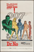 "Movie Posters:James Bond, Dr. No (United Artists, 1962). One Sheet (27"" X 41""). James Bond.. ..."
