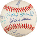 Autographs:Baseballs, 1980's 500 Home Run Club Signed Baseball with Stats....