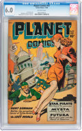 Golden Age (1938-1955):Science Fiction, Planet Comics #57 (Fiction House, 1948) CGC FN 6.0 Off-white pages....