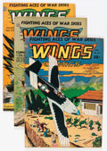 Golden Age (1938-1955):War, Wings Comics Group (Fiction House, 1944-49) Condition: AverageVG.... (Total: 12 Comic Books)