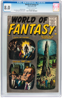 World of Fantasy #1 (Atlas, 1956) CGC VF 8.0 Off-white to white pages