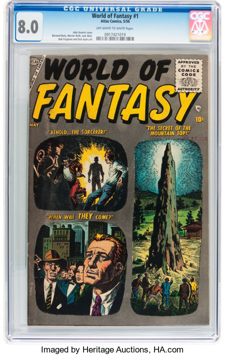 World of Fantasy #1 (Atlas, 1956) CGC VF 8.0 Off-white to white pages....