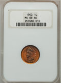 Indian Cents, 1902 1C MS66 Red NGC....