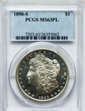 Morgan Dollars, 1890-S $1 MS63 Prooflike PCGS. PCGS Population (79/76). NGC Census:(71/68). Numismedia Wsl. Price for problem free NGC/PC...