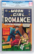 Golden Age (1938-1955):Romance, A Moon, A Girl...Romance #9 (EC, 1949) CGC FN- 5.5 White pages....