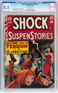 Golden Age (1938-1955):Horror, Shock SuspenStories #10 (EC, 1953) CGC VF+ 8.5 Off-white pages....