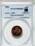 Proof Indian Cents, 1892 1C PR65 Red PCGS....