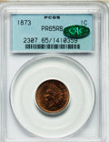 Proof Indian Cents, 1873 1C Closed 3 PR65 Red and Brown PCGS. CAC....